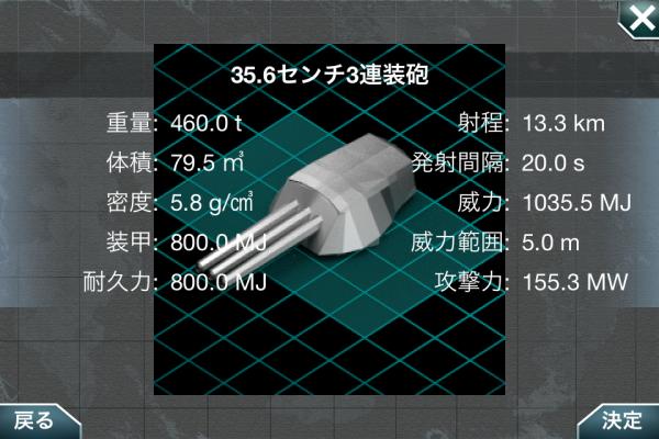 35.6センチ3連装砲