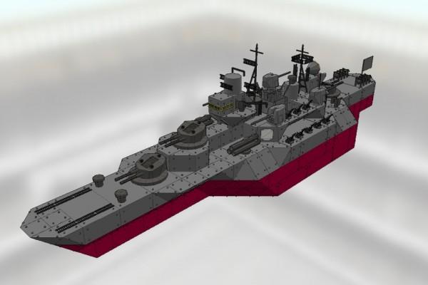 改秋月級駆逐艦 満月 Ver1.01