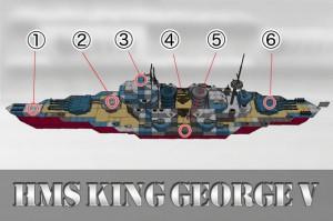 塗装方法 その4 – 個別編:キングジョージ5世の場合