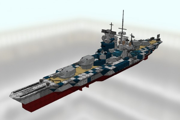 [TTS] ビスマルク級戦艦 ティルピッツ Ver1.1 [DKM TILPITZ]