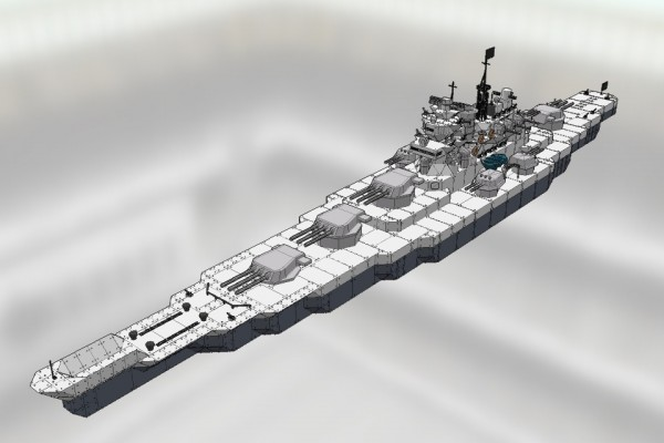 H45級戦艦 ブリュンヒルト Ver3.0 [DKM BRUNHILD]