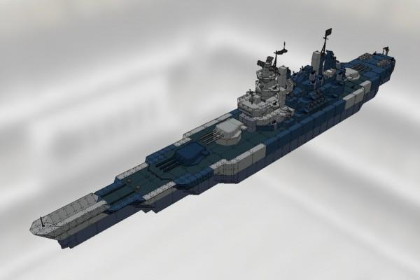 [TKS] アイオワ級戦艦 アイオワ Ver2.1 [USS BB-61 IOWA]