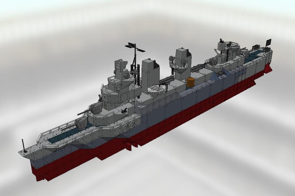 [WSF] フレッチャー級駆逐艦 チャールズ・オースバーン Ver1.0 | バトルシップクラフト(Battleship Craft) Fansite | Battleships of Pianoman
