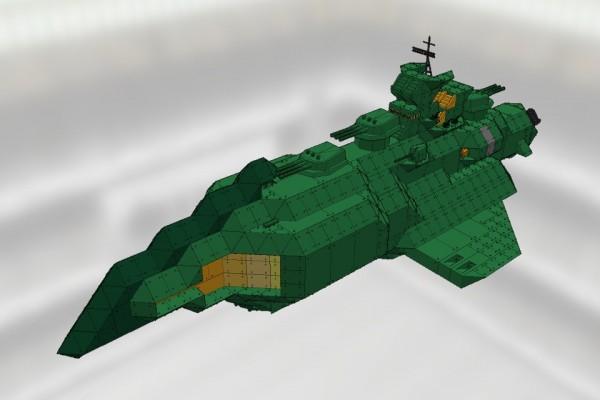 駆逐型デストロイヤー艦 Ver1.1 [GAMILAS DESTROYER]